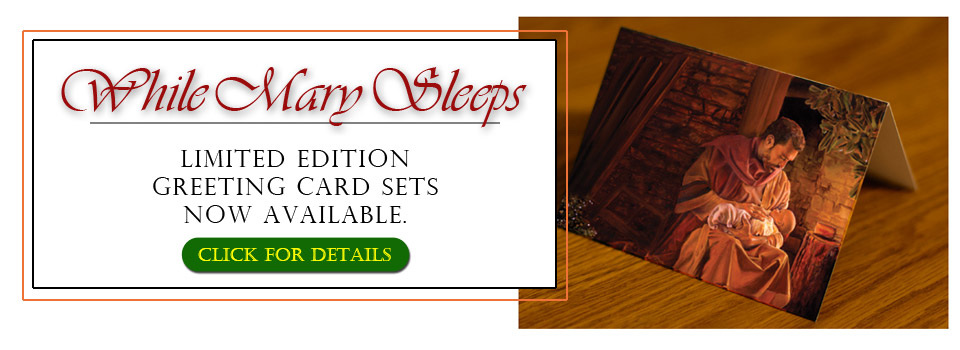 While Mary Sleeps Greeting Card Ad